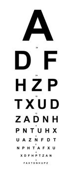 échelle optométrique e